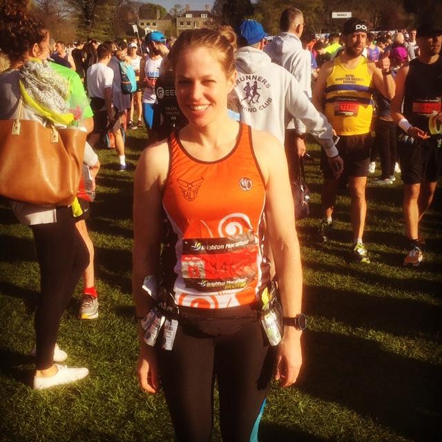 Louisa at Brighton Marathon